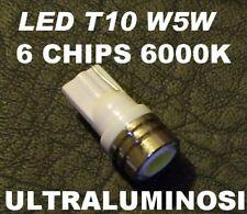 1 Lampadina LED BIANCO 6000°K ALTA Luminosità attacco T10 W5W 501 Luci Auto 12V