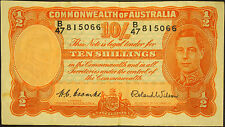 10 Shilling Note - 1952 - Coombs / Wilson VF with minor faults