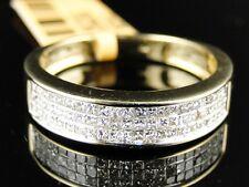 14K New Mens Yellow Gold Princess Cut White Diamond Ring Wedding Band 1Ct 5 Mm