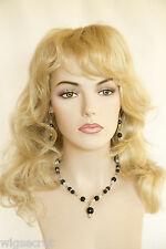 Long Glamorous Hair With Soft Layered Waves Medium Blonde Wigs