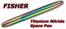 Fisher Titanium Nitride Bullet Space Pen RAINBOW 400RB