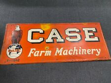 1947 Case Farm Machinery Embossed Heavy Metal Sign