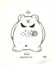 "Frank Kozik 8"" x 10"" ORIGINAL ART Oson Magistrate Wu Monger Design RARE SIGNED"