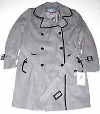 Jaclyn Smith Wool Trench Coat Gray, size Large New w/Tag