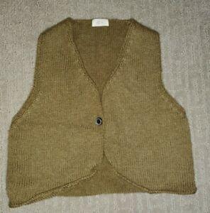 Keti Keta Boys Size 6 Khaki Fine Wool Knit Sweater Vest Perfect Condition!