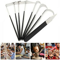 8PCS Pottery Wax Clay Carvers kit Carving Sculpture Stainless Steel Hand Tools