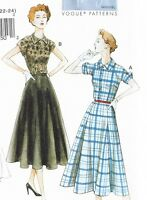 50s fifties style dress SEWING PATTERN, Vintage Vogue V9000 size 8-24 retro 1950
