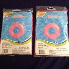 Set Of 2 Splash-N-Swim Inflatable Swim Rings, 30 inch Dia. * PINK SWIM RING*
