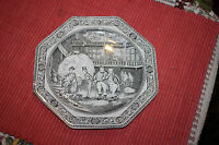 Antique Vintage Adams Ironstone Micratex Dickens Plate-Mr. Samuel Weller-8 Sided