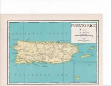 1942 Puerto Rico Map
