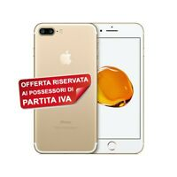"""SMARTPHONE APPLE IPHONE 7 PLUS GOLD ORO 32GB IOS 12MPX 5,5"""" TOUCH ID PER P.IVA."""