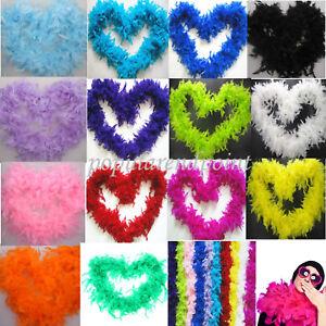 Feder Boa Federstola Federschal verschiedene Farben für Kostüm Karneval 2M lang