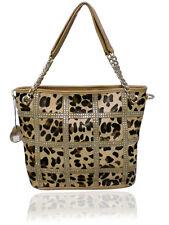 100% Real Leather Leopard Handbag