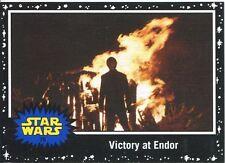 Star Wars JTTFA Black Parallel Base Card #79 Victory at Endor