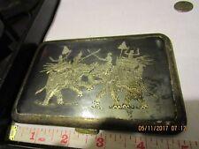 Vintage Siam Sterling Silver Niello Scene Cigarette Case