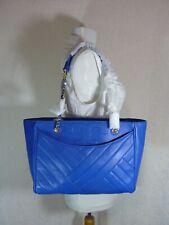 NWT Tory Burch Regal Blue Leather Alexa Small Flat Tote - $479