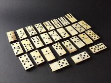 Ancien jeu de domino, boite bois, 28 pièces, jouet ancien, société, XIXe, etc.