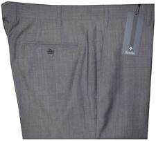 $395 NEW ZANELLA PARKER SLIM FIT GRAY TWILL SUPER 120'S WOOL MENS DRESS PANTS 36