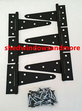 """6"""" Heavy Duty Shed Hinges (set of 12) Shed Barn Door Playhouse Treehouse Windows"""