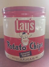 Vintage Rare Lay's Potato Chip Tin ~ Country Store ~ Rare