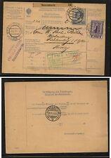 Austria   parcel   card   1911            KL0731