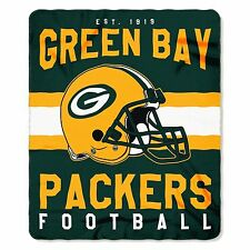 "New NFL Green Bay Packers Helmet Logo Soft Fleece Throw Blanket 50"" X 60"""