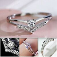 Jewelry Glaring Zircon Courtship Ring 925 Sterling Silver Multi-drill Rings