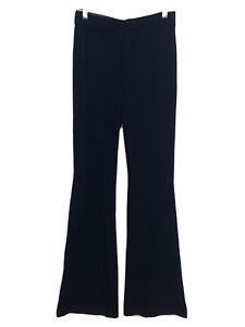 Zara Black Flared Velvet Trousers Size S M L XXL