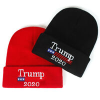 Trump Beanie MAGA Hat POTUS Clothes 2020 Keep America Great Knit Cap Red Wave *1