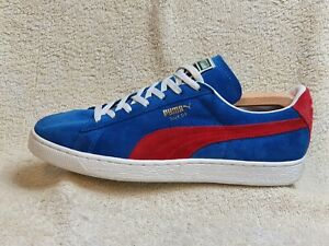Puma Suede Classic Comfort mens trainers Blue/Red/White UK 9.5 EUR 44 US 10.5