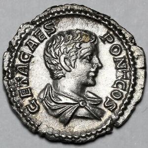 203-208 GETA ROMAN SILVER DENARIUS COIN