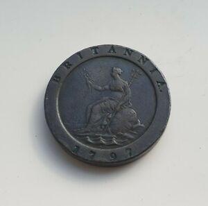 GB 1797 King George 111 Cartwheel Penny coin