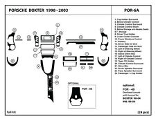 Porsche Boxter 1998-2003 Real Carbon Fiber Dash Kit Trim -Full kit POR-6A
