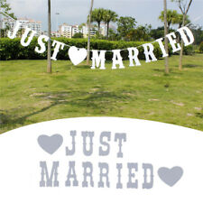 5660ac8ee2a3 Just Married Garland Wedding Banner Car Bunting Western Venue Party Decor  Sign
