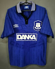 VINTAGE UMBRO EVERTON 1995/1997 HOME SOCCER FOOTBALL SHIRT JERSEY SIZE BOYS XL