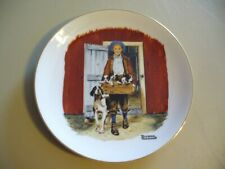 """Norman Rockwell Museum Plate """"Puppy Love"""" 1985 - Vintage"""