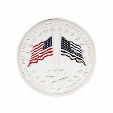 Patron of Police Saint Michael America Flag Commemorative Coin Souvenirs Silver