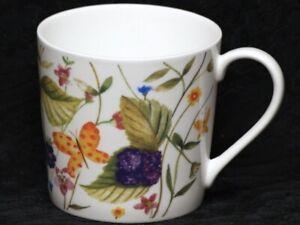 ROSE of ENGLAND BUTTERFLIES & BLACKBERRIES Fine Bone China DORSET Mug