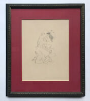 """Marcel Vertes (French, 1895 - 1961) """"Couple Embracing"""" Original Lithograph"""