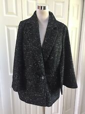 NWT Halogen Black Speckled RoxieCoat Cape Poncho Small