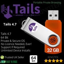 Linux Tails 4.7 Anonymous OS | 64 Bit Live Portable USB | Private Web Browsing