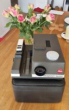 Leitz Pradovit RA152 slide projector w. Colorplan CF 2.5/90, case, working well!