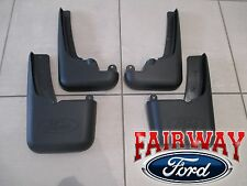 99 - 10 F250 F350 OEM Ford Molded Splash Guards Mud Flaps w/ Lips 4pc Set