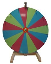 "24"" Woodwell® Tabletop Color Dry Erase Fortune Prize Wheel 15 Slots"