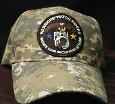 Warriors Watch Riders Camouflage Baseball Cap Hat USA Veterans & USA Supporters