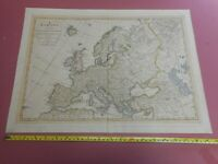 100% ORIGINAL LARGE EUROPE  MAP BY LAURIE WHITTLE   C1794 VGC  ORIGINAL COLOUR