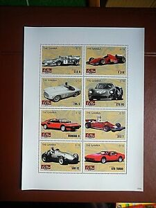 BLOC NEUF VOITURES GAMBIE - MINT SHEET CARS GAMBIA