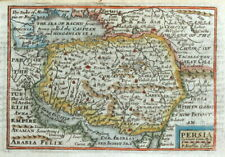 PERSIA, IRAN, Van Den Keere, Miniature Speed original antique map 1675