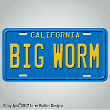 Friday Ice Cube Chris Tucker BIG WORM Replica Prop Aluminum License Plate Tag