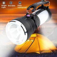 LED 3Mode Torche solaire Lampe de poche USB Rechargeable camping randonnée ABS
